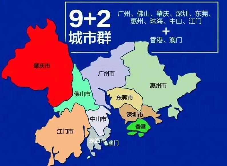 粤港澳大湾区地区划分
